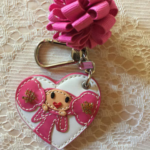 COACH POPPY CHAN PINKY LEATHER KEY RING